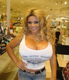 Sheyla Hershey 38KKK Breast Implants