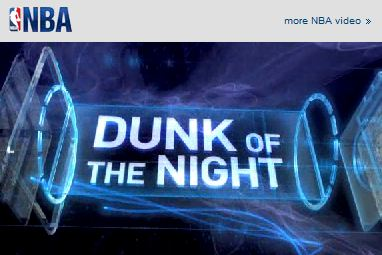 NBA Dunk of the night.